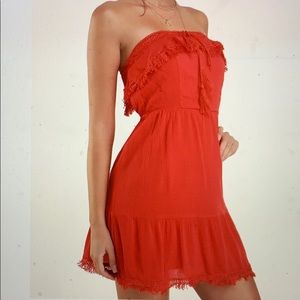 Lulus Red Dress with tags